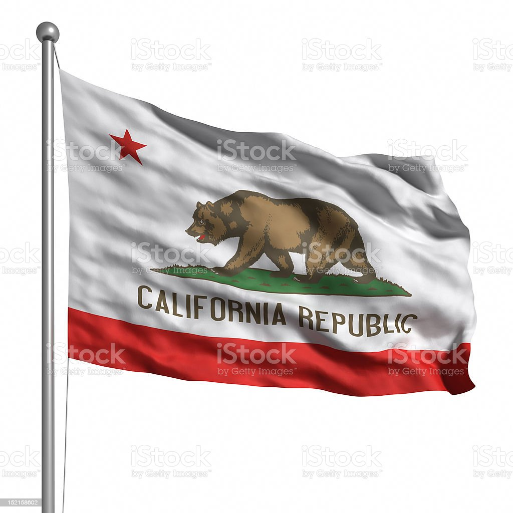 Flag of California (isolated) stock photo