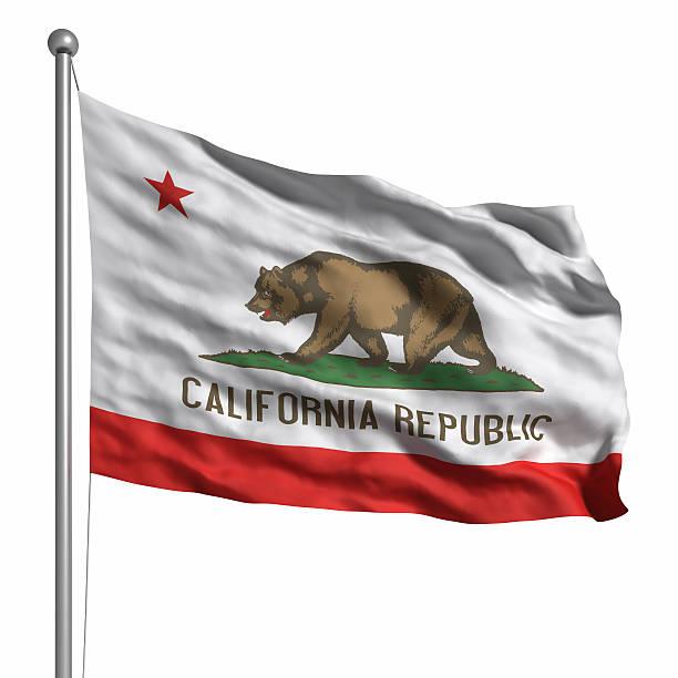 Bandera de California (aislado - foto de stock
