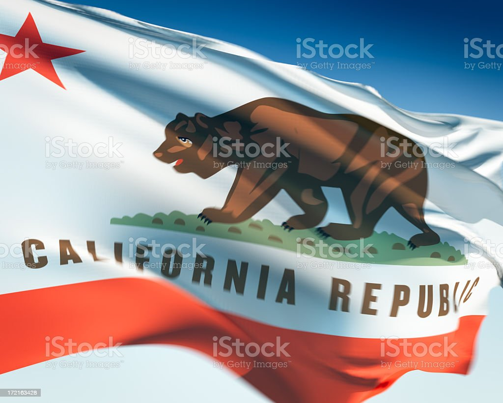 Flag of California royalty-free stock photo