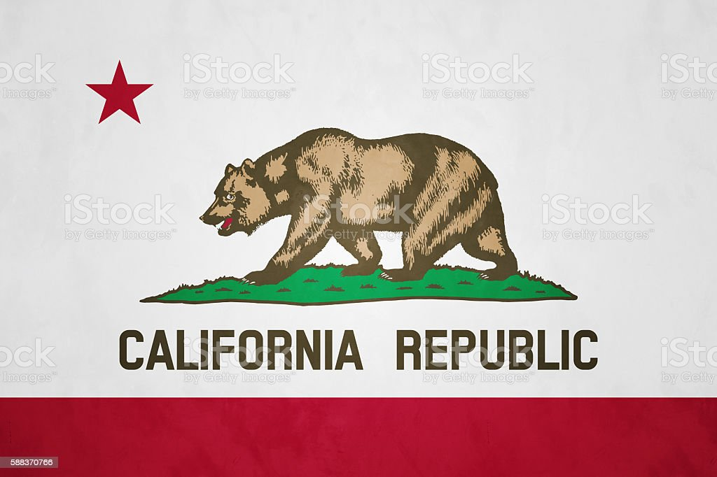Flag of California (U.S. state) stock photo