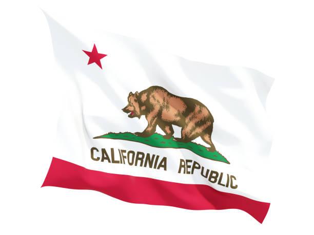 Bandera de california, estado de los Estados Unidos ondeando bandera - foto de stock