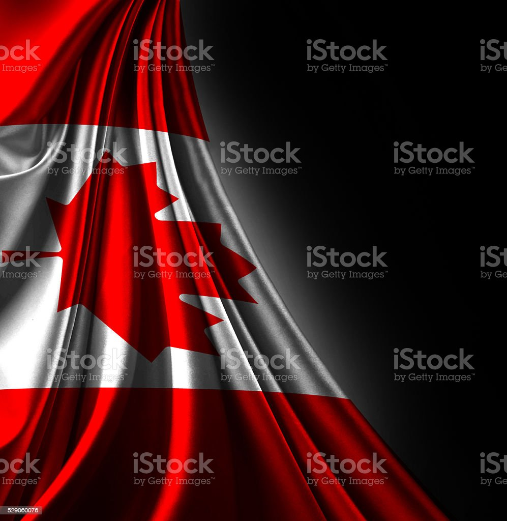 Flag of Canada 3d, satin textured stock photo