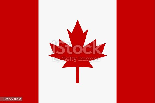 istock Flag of Canada in minimalistic design and high quality 1062275918