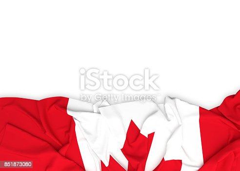 istock Flag of Canada on white background with clipping path 851873080