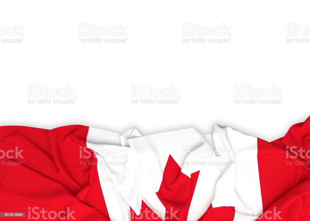Bandeira do Canadá sobre fundo branco, com traçado de recorte - foto de acervo