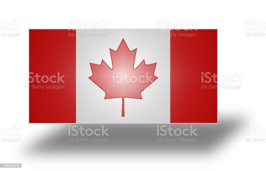 Flag of Canada (stylized I). royalty-free stock photo