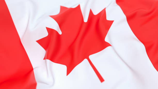 Flag of Canada Top up view of Canadian flag canada flag photos stock pictures, royalty-free photos & images