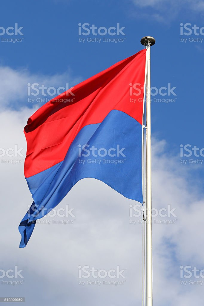 Flag of Canton Ticino stock photo