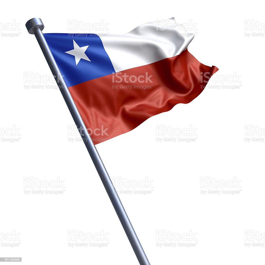Bandeira do Chile isolada no branco