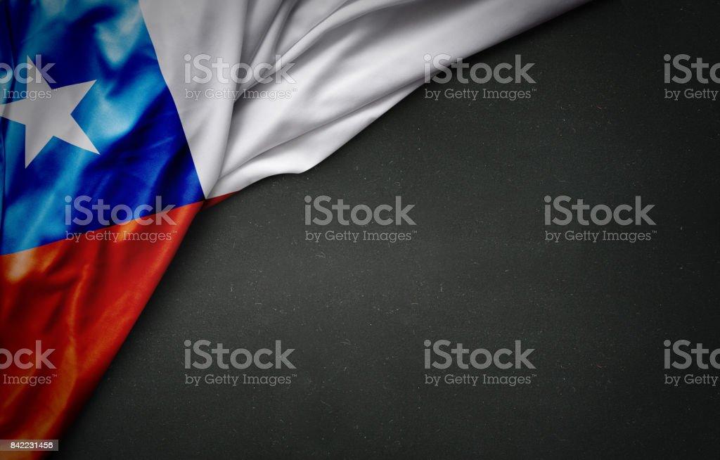Bandeira do Chile na lousa - foto de acervo