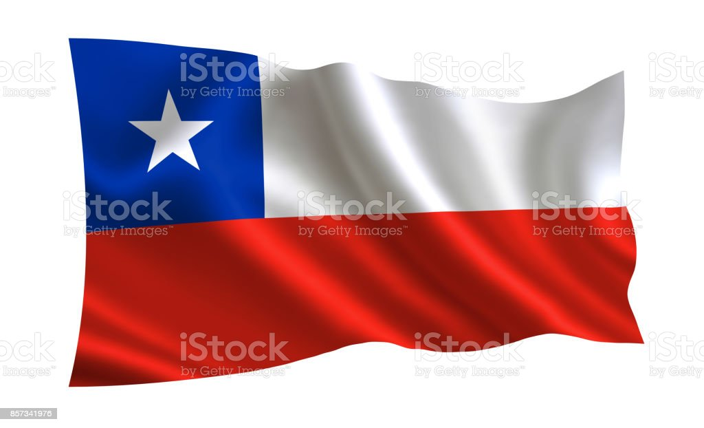 Bandeira do Chile. Parte da série. - foto de acervo