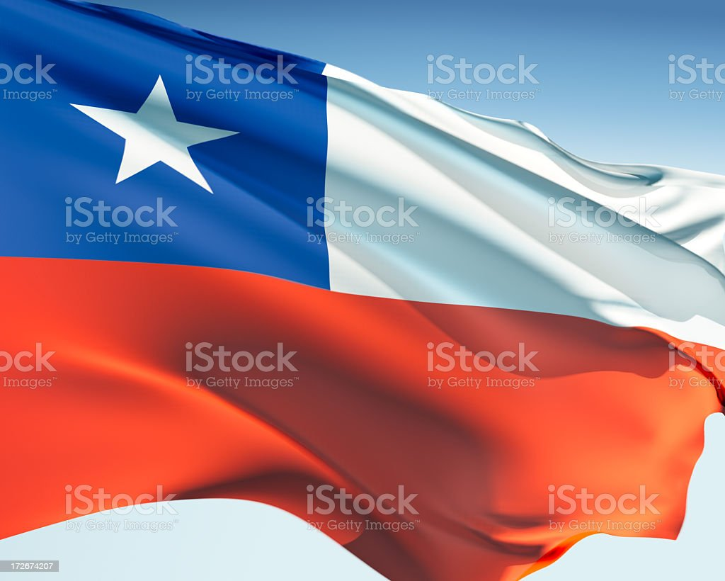 Bandeira do Chile - foto de acervo