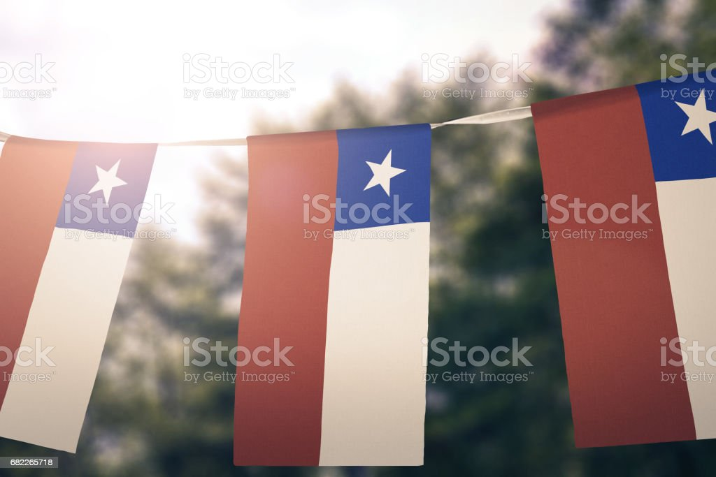 Flag of Chile - foto de acervo