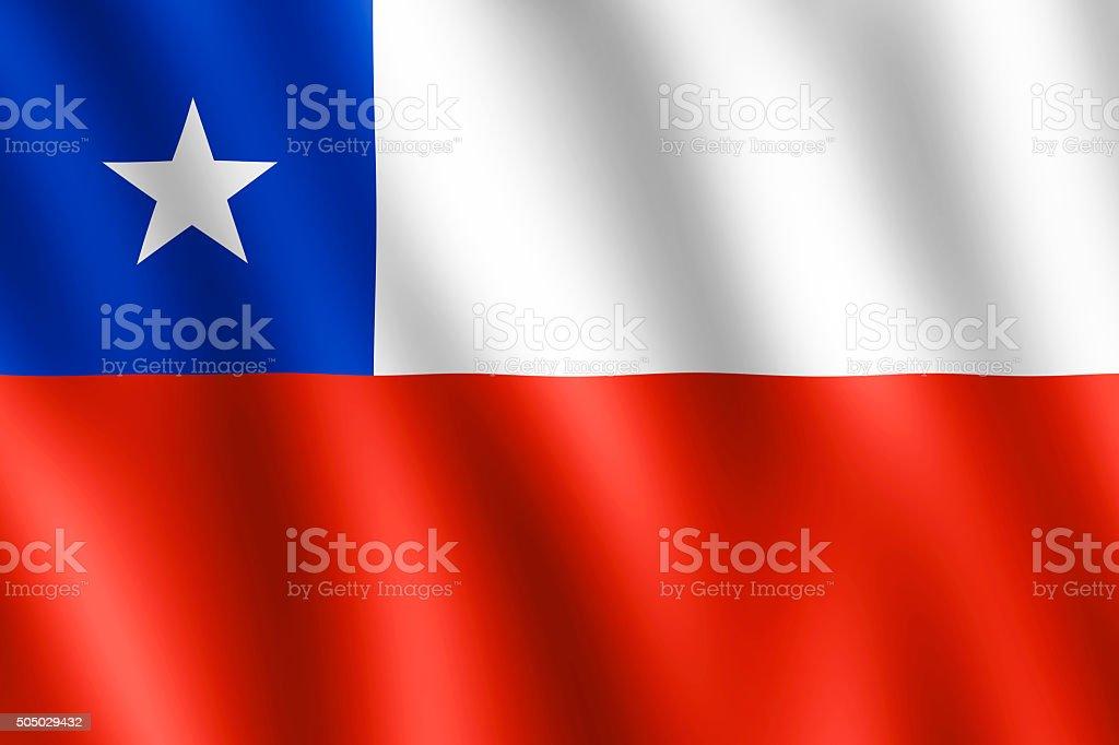Bandeira do Chile balançando ao vento - foto de acervo