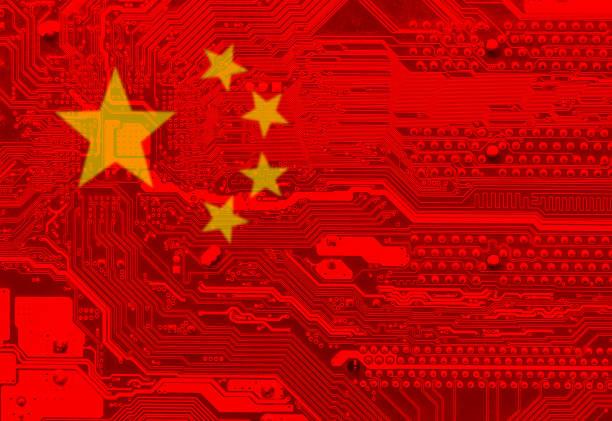 flag of china - cina foto e immagini stock