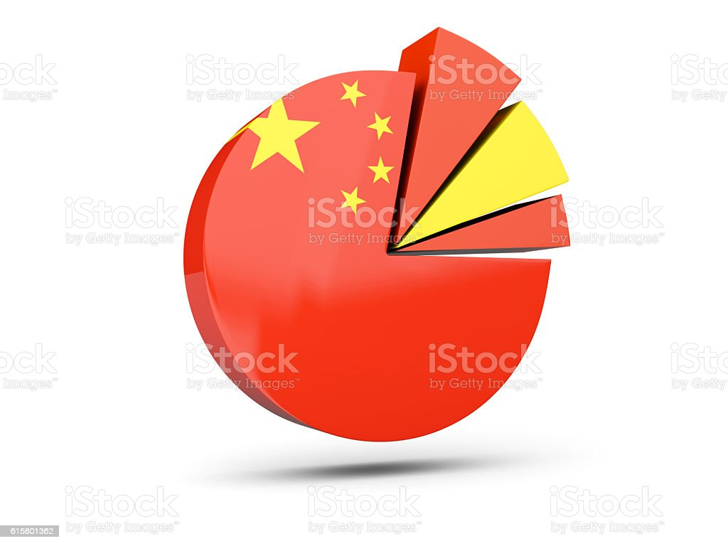 Flag Of China Round Diagram Icon Stock Photo Download Image Now Istock