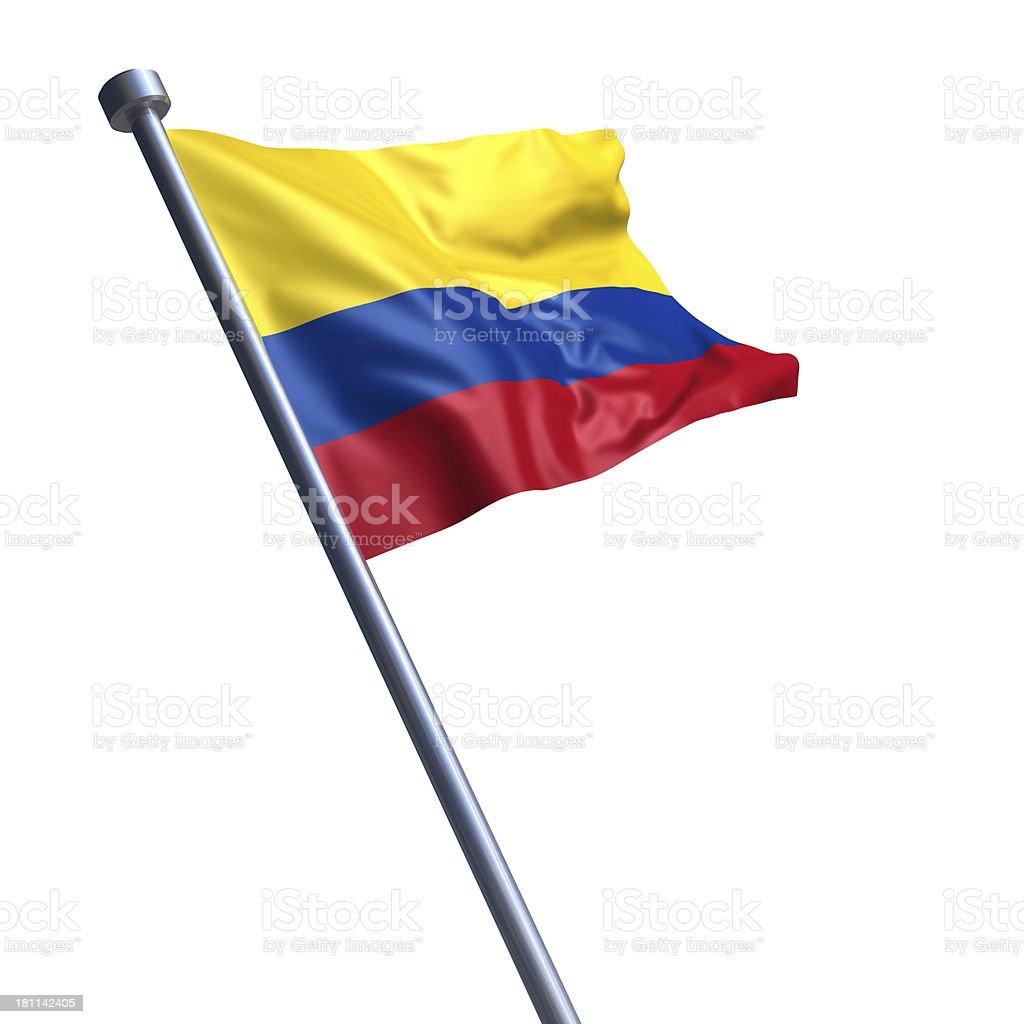 Bandera de Colombia Aislado en blanco - foto de stock