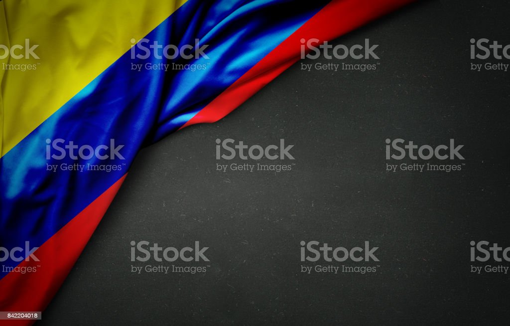 Bandera de Colombia en pizarra - foto de stock