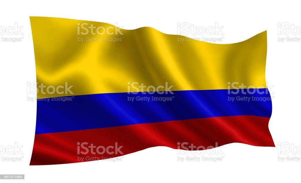 Bandera de Colombia. Parte de la serie. - foto de stock