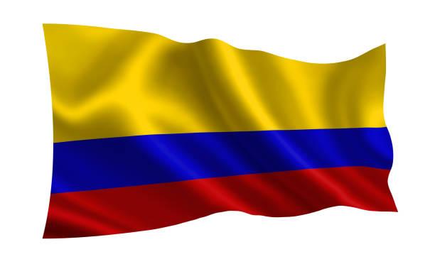 bandera de colombia. parte de la serie. - bandera colombiana fotografías e imágenes de stock