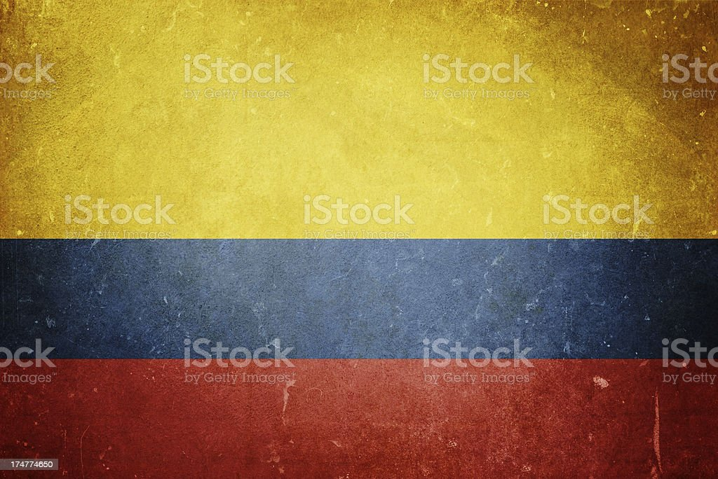 Flag of Colombia royalty-free stock photo