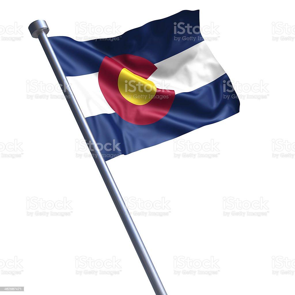 Flag of Colorado isolated on white stock photo