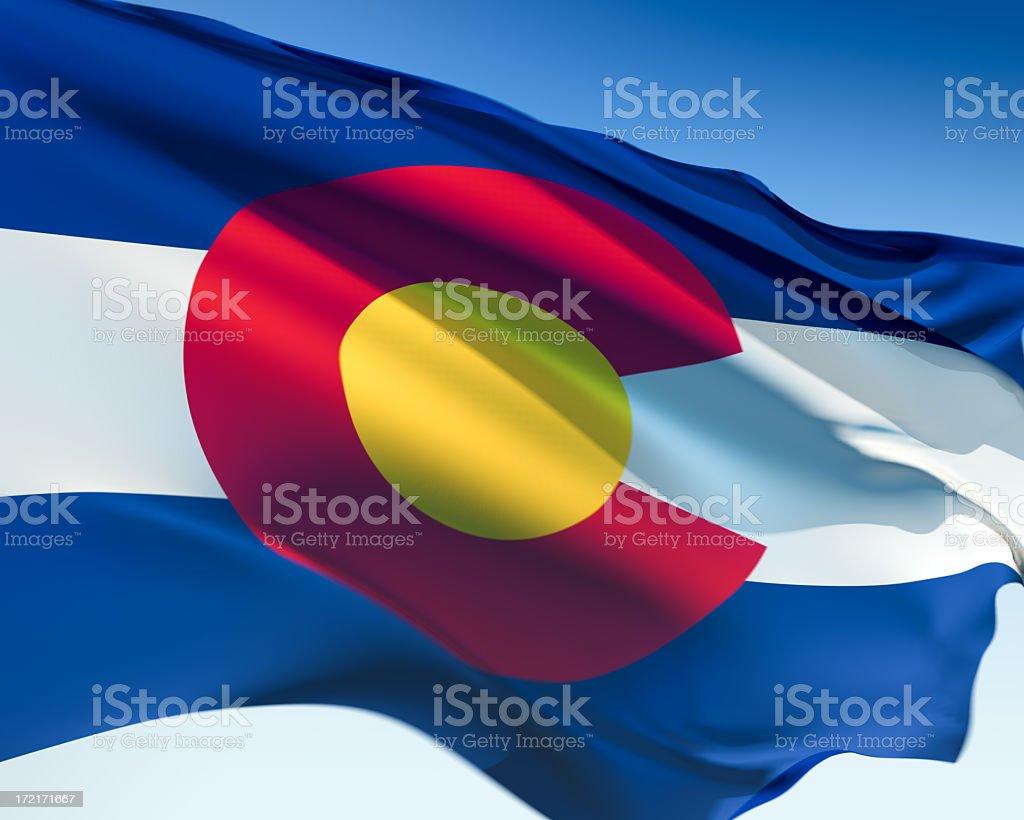 Flag of Colorado royalty-free stock photo