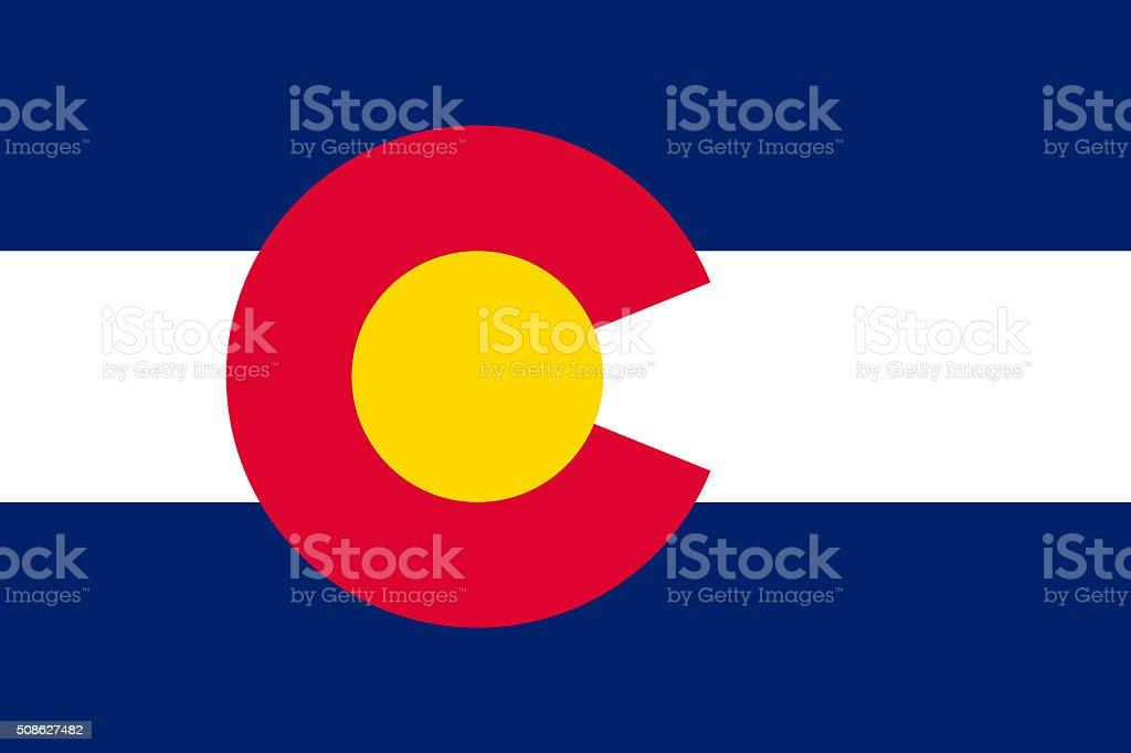 Flag of Colorado State, USA stock photo