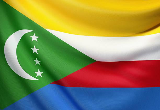 drapeau des comores - comores photos et images de collection