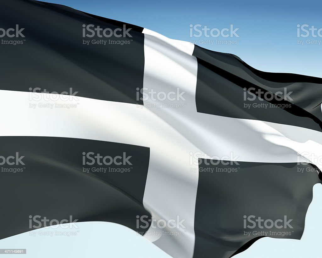 Flag of Cornwall stock photo