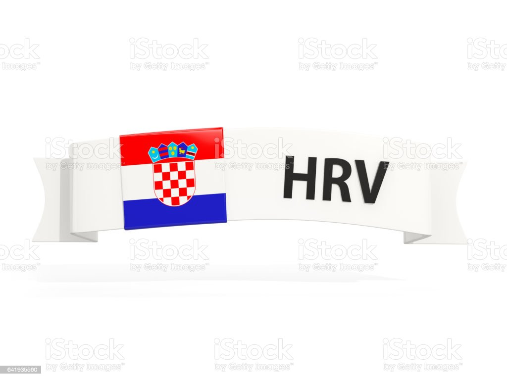 Flag of croatia on banner - foto stock