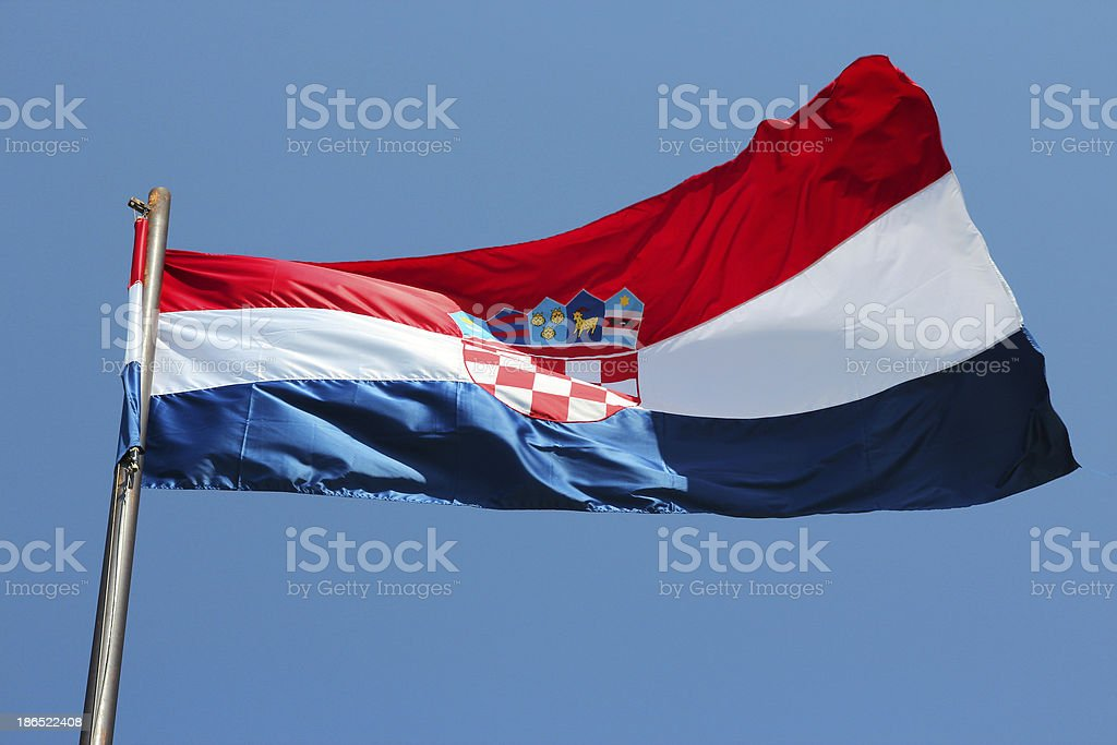 Flag of Croatia royalty-free stock photo