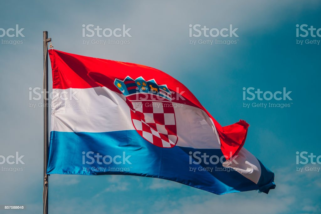 Flag of Croatia - foto stock