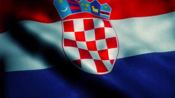 Bandeira da Croácia  - foto de acervo