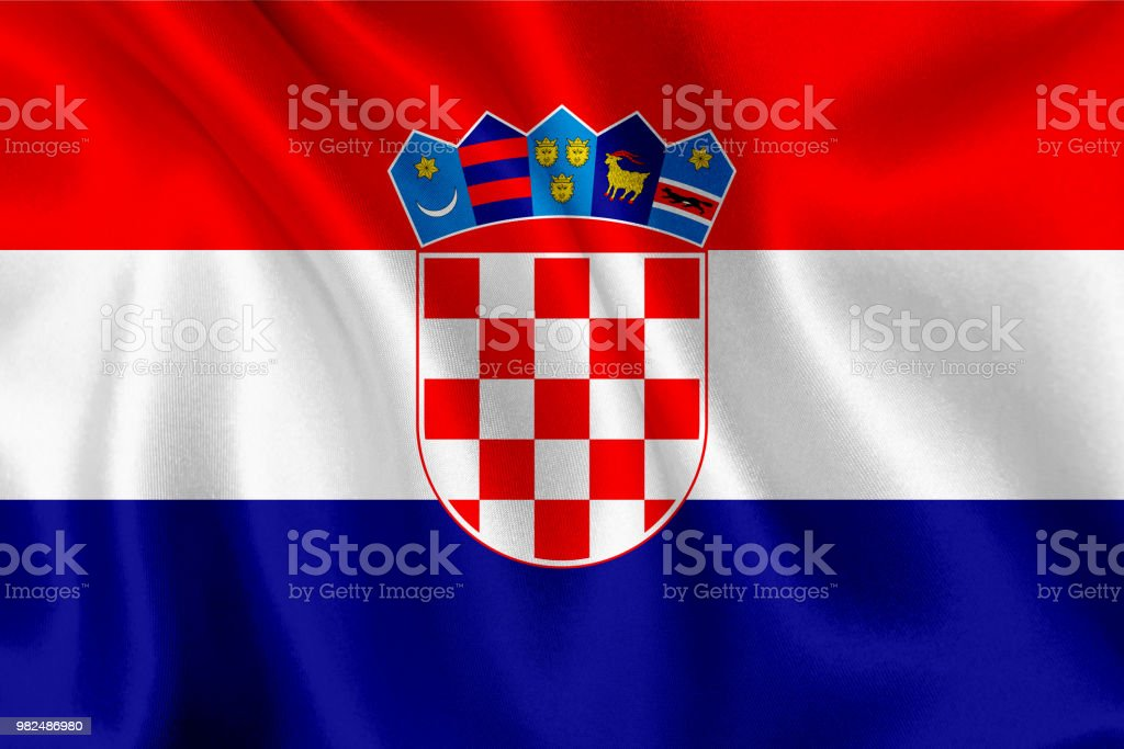 Flag of Croatia waving background - foto stock