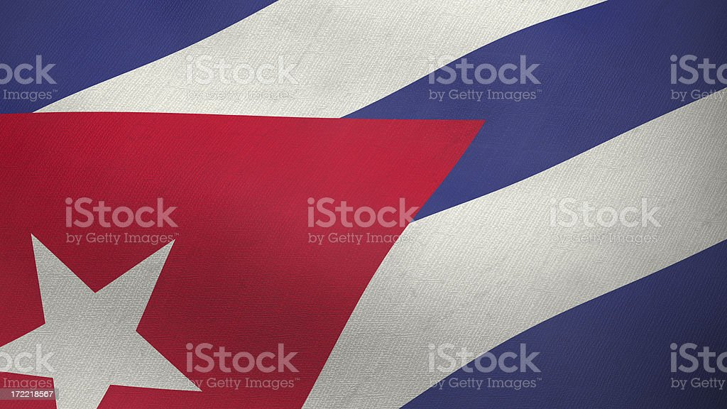 3D flag of Cuba royalty-free stock photo