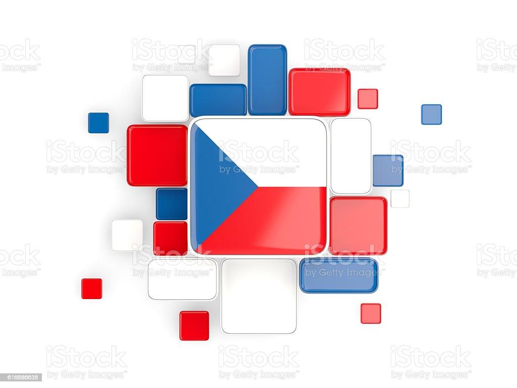 Flag of czech republic, mosaic background - foto de stock