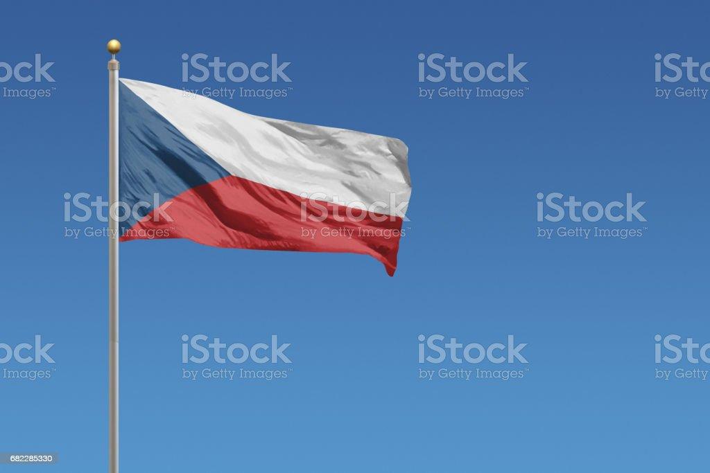 Bandera de República Checa - foto de stock