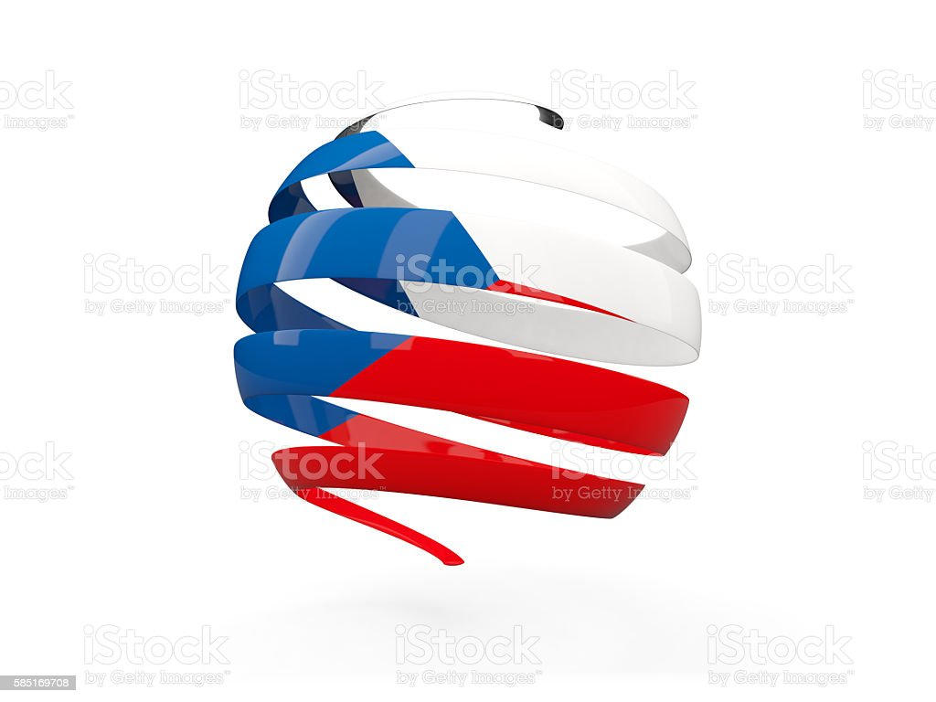 Flag of czech republic, round icon - foto de stock