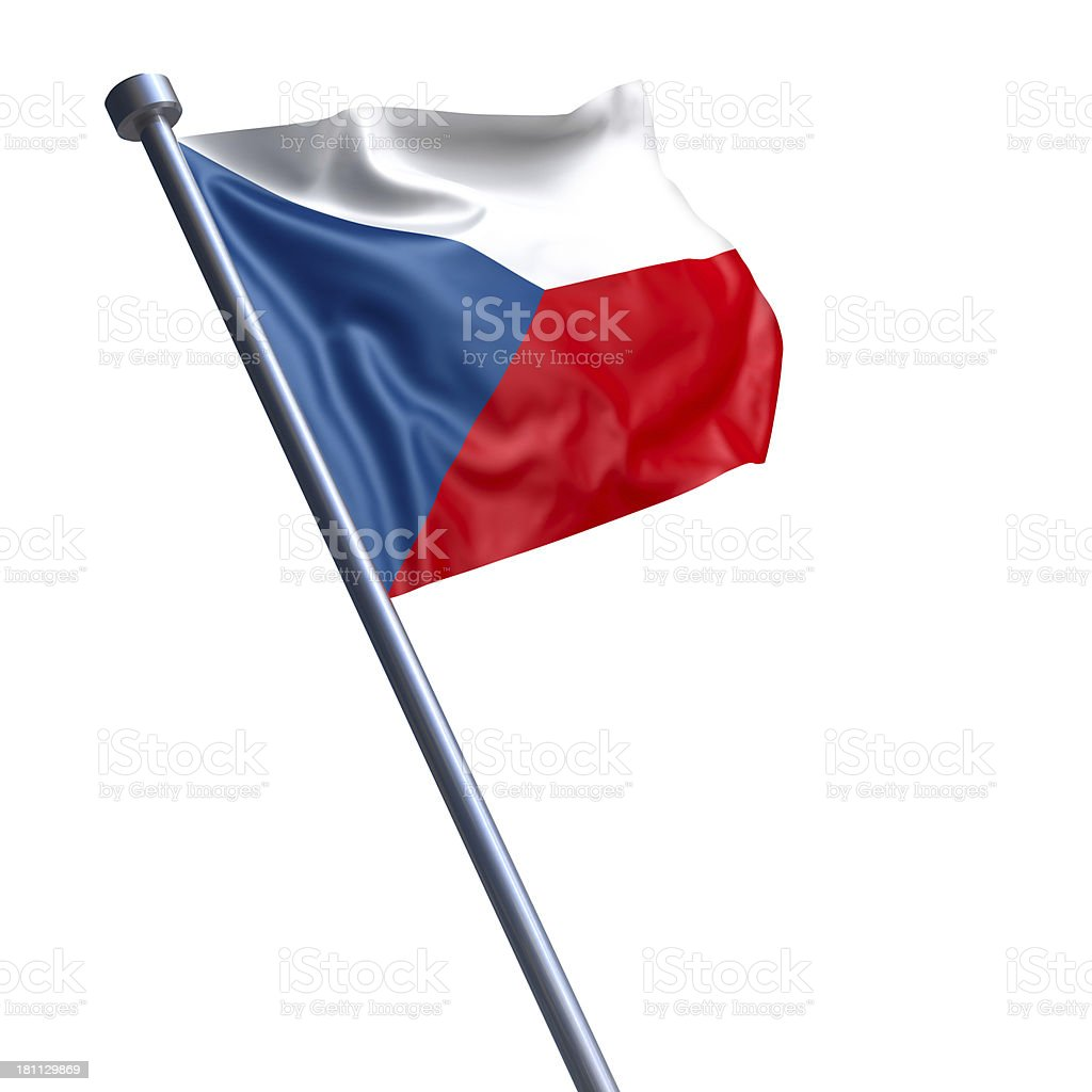 Flag of Czech Republic, the -  isolated on white royalty-free stock photo