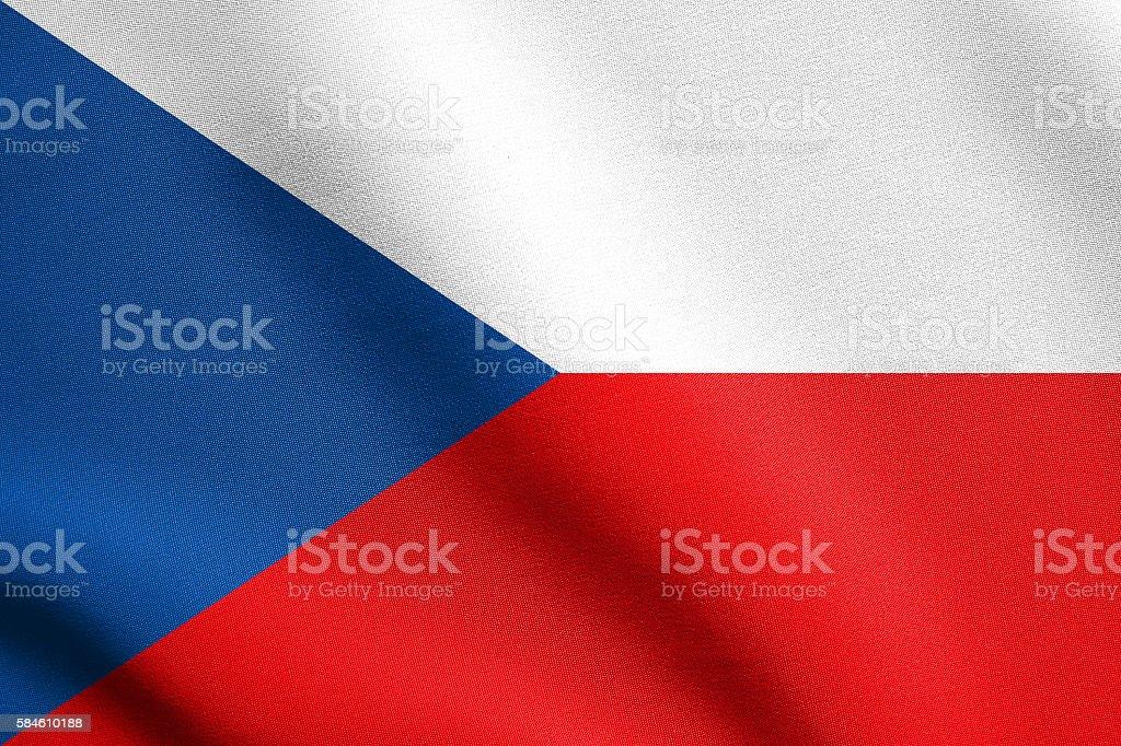 Flag of Czech Republic waving with fabric texture - foto de stock