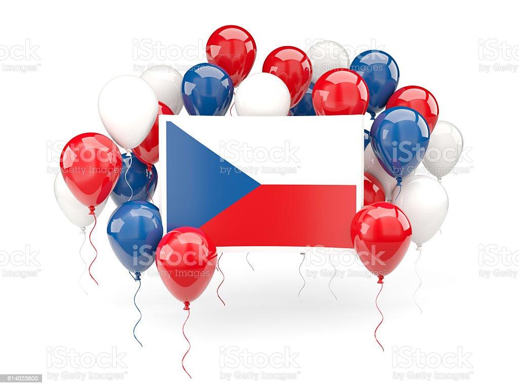 Flag of czech republic with balloons - foto de stock