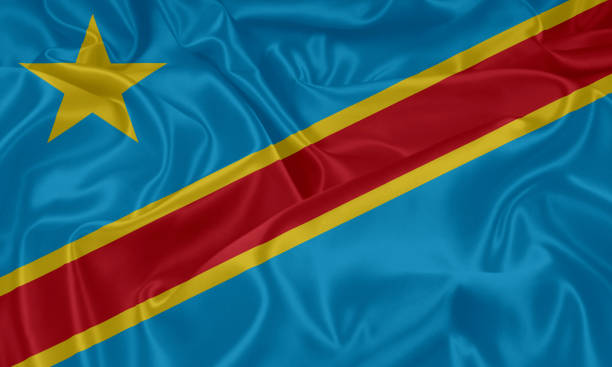 flag of democratic republic of the congo, kinshasa - democratic republic of the congo stock photos and pictures