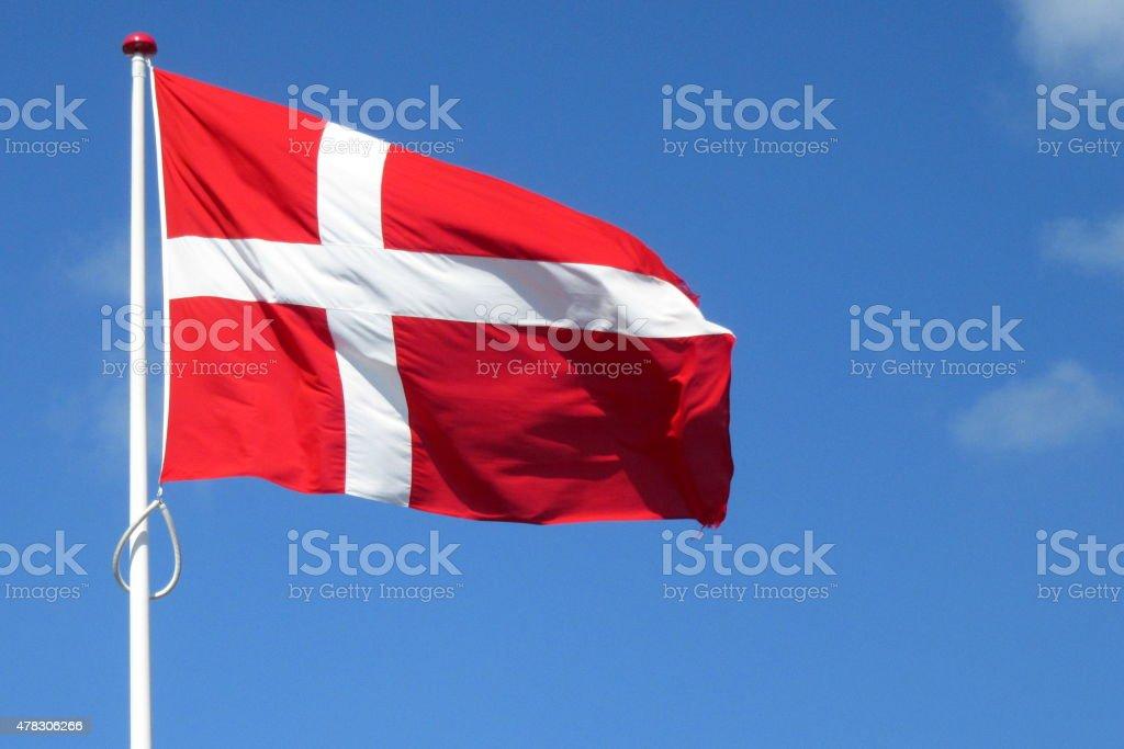 Bandera de Dinamarca - foto de stock