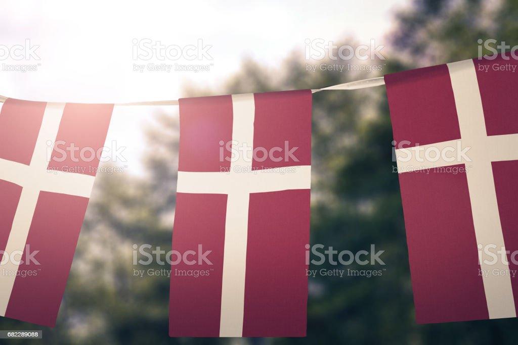 Flag of Denmark - foto de stock