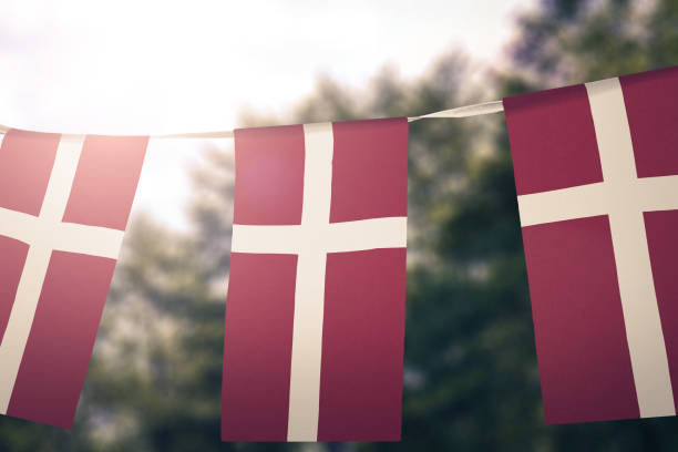 flag of denmark - denmark stock photos and pictures