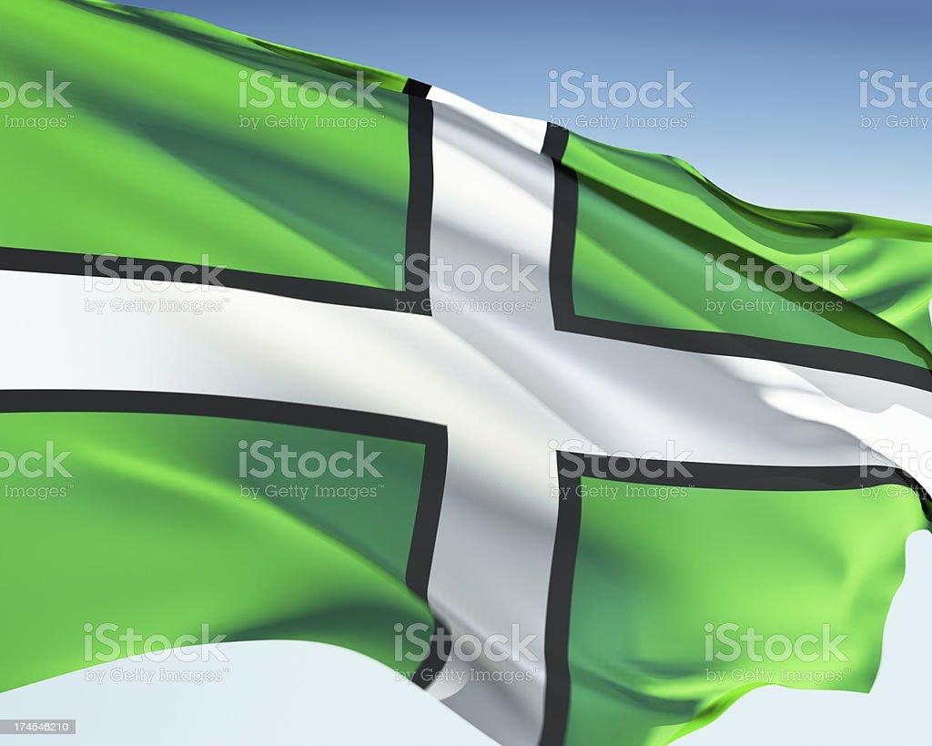 Flag of Devon royalty-free stock photo