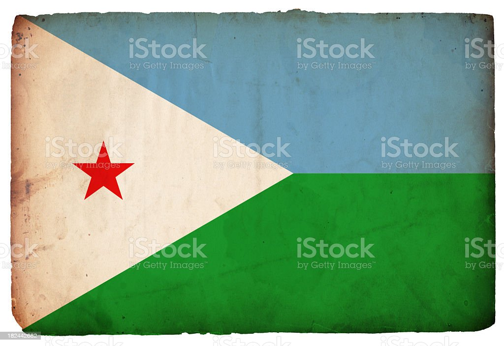 Flag of Djibouti - XXXL royalty-free stock photo