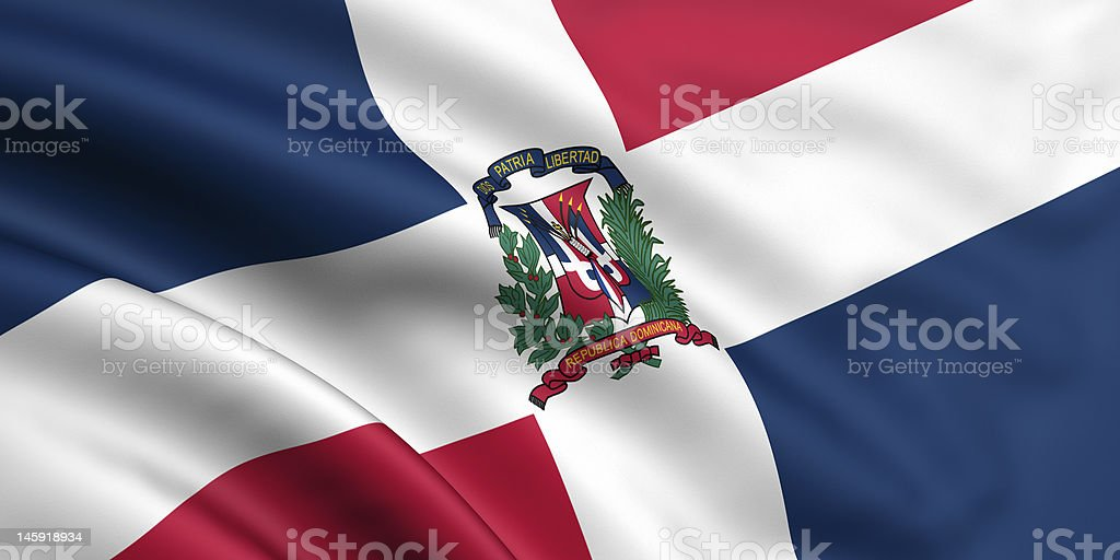Flag Of Dominican Republic royalty-free stock photo