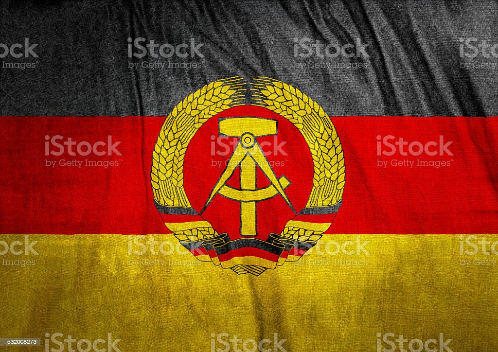 Flag of East Germany stock photo